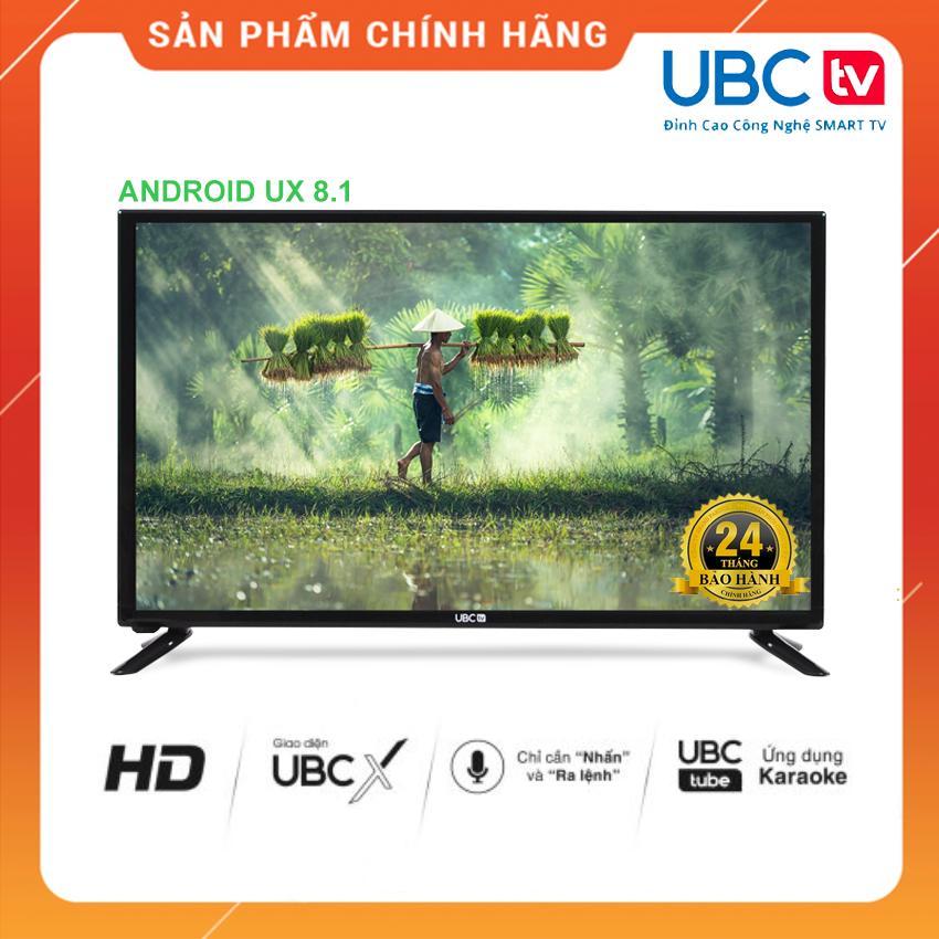 Smart Tivi UBC TV 32 inch HD Voice Search - Model 32VS (Đen) Tìm kiếm bằng giọng nói, Tích hợp DVB-T2