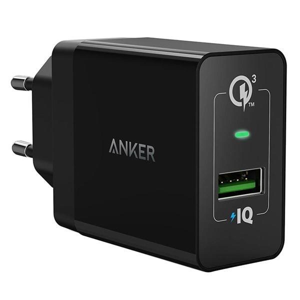 Adapter Sạc 1 Cổng Anker PowerPort+ 18W Tích Hợp PowerIQ Hỗ Trợ Sạc Nhanh QC 3.0 - A2013 - Hàng ZIN Hãng - HÌNH THẬT 100%