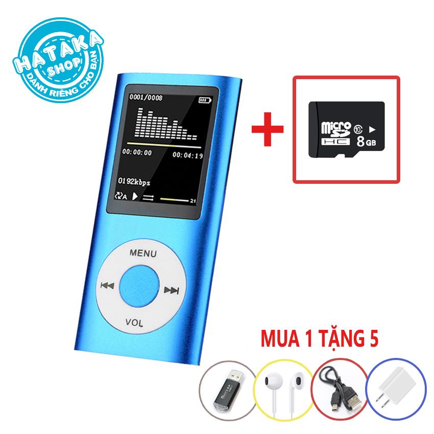 [Nhập ELAPR21 giảm 10% tối đa 200k đơn từ 99k]Máy nghe nhạc tặng thẻ nhớ 8GB có FM ghi âm siêu tiết kiệm-BTS-8GB