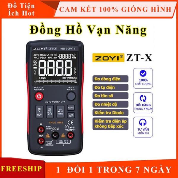 Đồng hồ vạn năng Zoyi ZT-X đo điện đo dòng, điện áp ACDC, tụ điện, trở và tần số, đo thông mạch, đo nhiệt độ có đèn LED