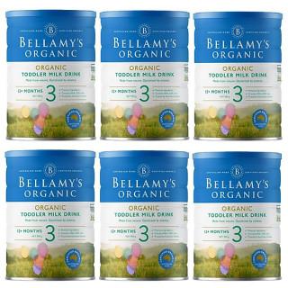 6 lon Sữa Bellamy s Organic công thức số 3 (bé từ 12-36 tháng) - 900gram thumbnail