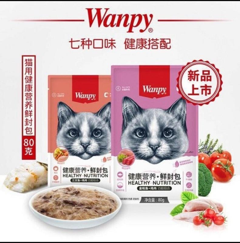 Thức Ăn Dạng Patê Gói Wanpy Dòng Cao Cấp Cho Mèo Kén Ăn Nhiều Mùi Vị Thơm Ngon