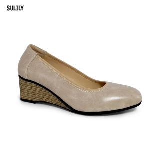 Giày Búp Bê Đế Xuồng Da Thật AD by Sulily màu da mang êm chân