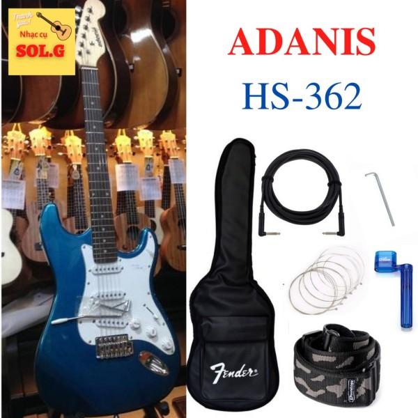Guitar điện, Guitar Electric ADANIS HS-362 ( màu xanh ngọc ) - Guitar Solo Nhập khẩu - Phân phối Sol.G