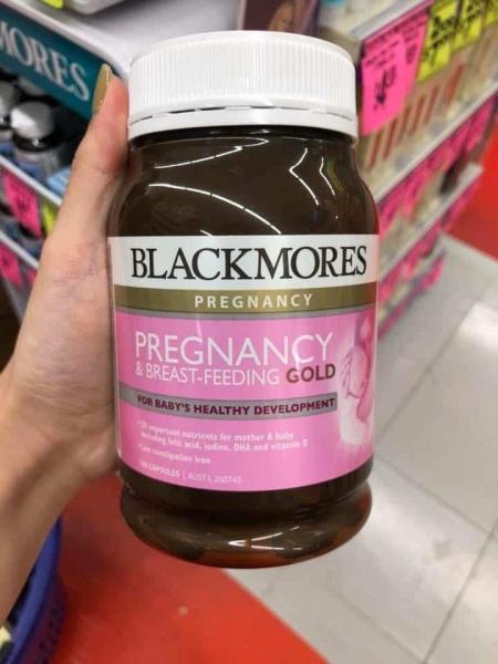 Vitamin tổng hợp Bà Bầu Blackmores Pregnancy And Breast-Feeding Gold - 180 Viên