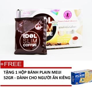 Cà phê Giảm Cân Idol Slim Coffee + Tặng kèm 1 Hộp bánh Plain Meiji 52gr - Dành cho người ăn kiêng thumbnail