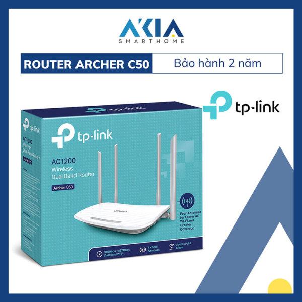 Bảng giá Bộ Phát Wifi Băng Tần Kép AC1200 TP-Link Archer C50 - Hàng Chính Hãng Phong Vũ