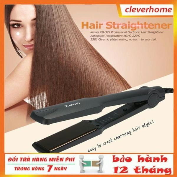 (Hàng loại 1)Máy Làm Thẳng Tóc Máy duỗi tóc đa năng 4 Mức Chỉnh Nhiệt Kemei KM 329 tạo kiểu tóc mini, máy ép tóc mini, máy làm tóc mini , máy làm tóc đa năng mini ,máy làm xoăn tóc mini ,kẹp tóc đa năng mini, máy làm tóc