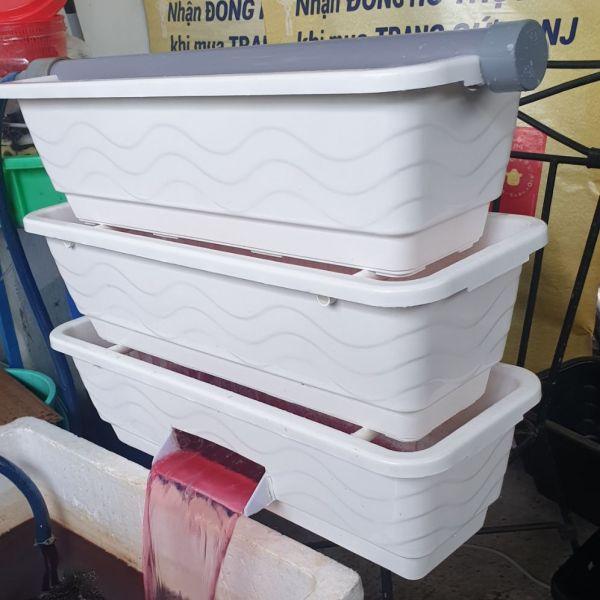 bộ lọc baki 3 tầng thác màu trắng nhựa tốt