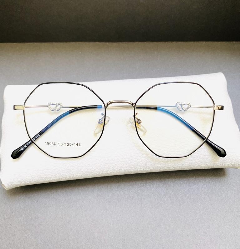 Giá bán Gọng kính mắt lục giác Elmee - kính thời trang siêu cute E20148