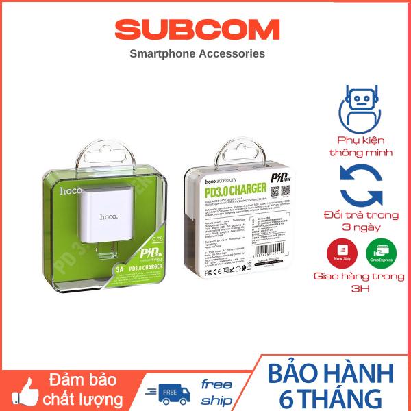 Bộ sạc nhanh HOCO C76 Plus TYPE-C RA Lighting PD3.0 / 20W / QC 3.0