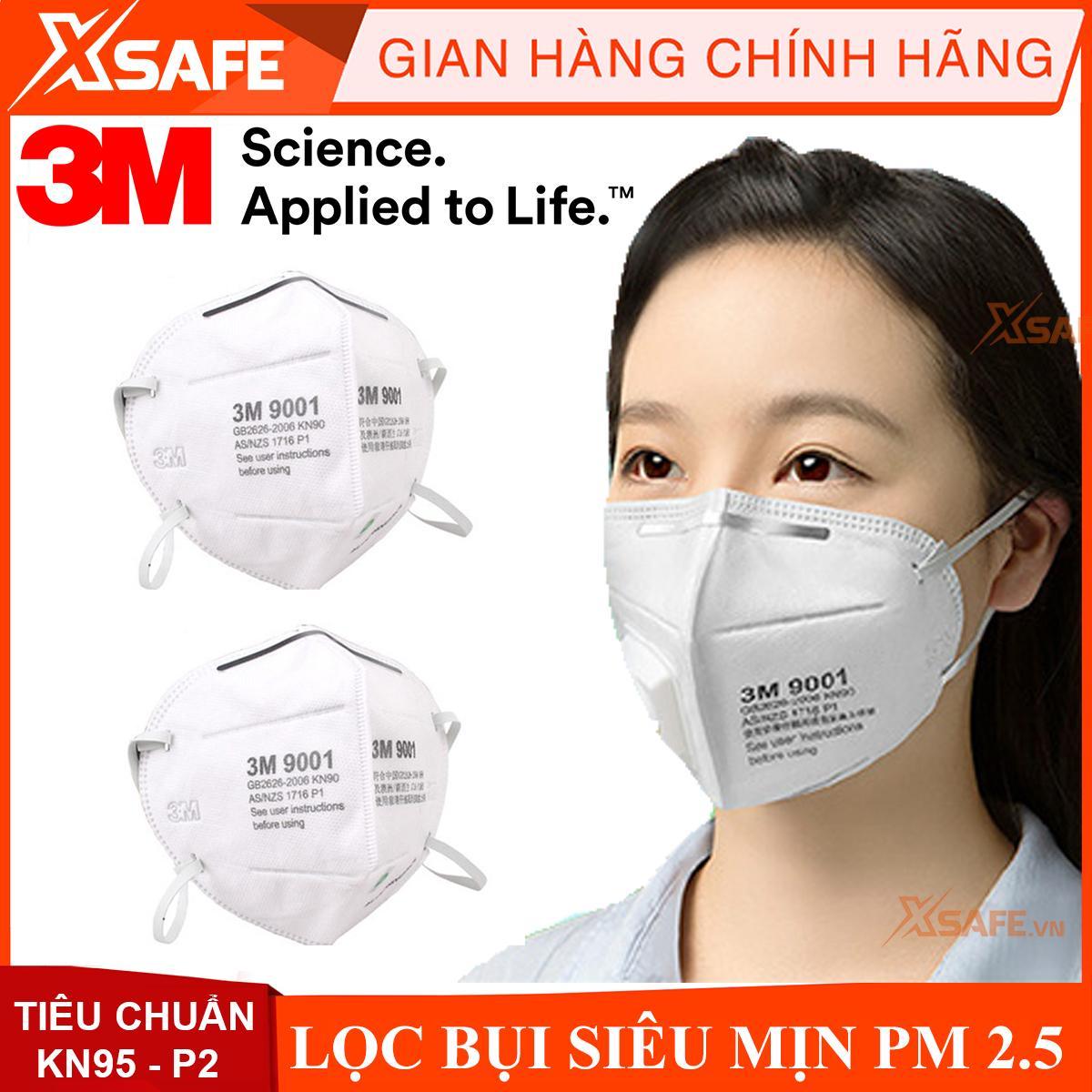 Khẩu trang chống bụi mịn PM 2.5 ( Khẩu trang 3m 9001A )