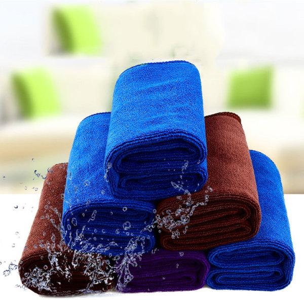 Bộ 5 khăn lau xe hơi oto kt 35x75cm nặng 110 gram siêu dày