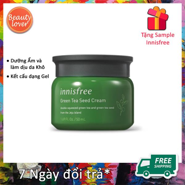 Kem Dưỡng Ẩm Innisfree Green Tea Seed Cream 50ml – Beauty Lover Giữ Ẩm & Bảo Vệ Da Căng Khoẻ Tặng Kèm Sample Innisfree Ngẫu Nhiên giá rẻ