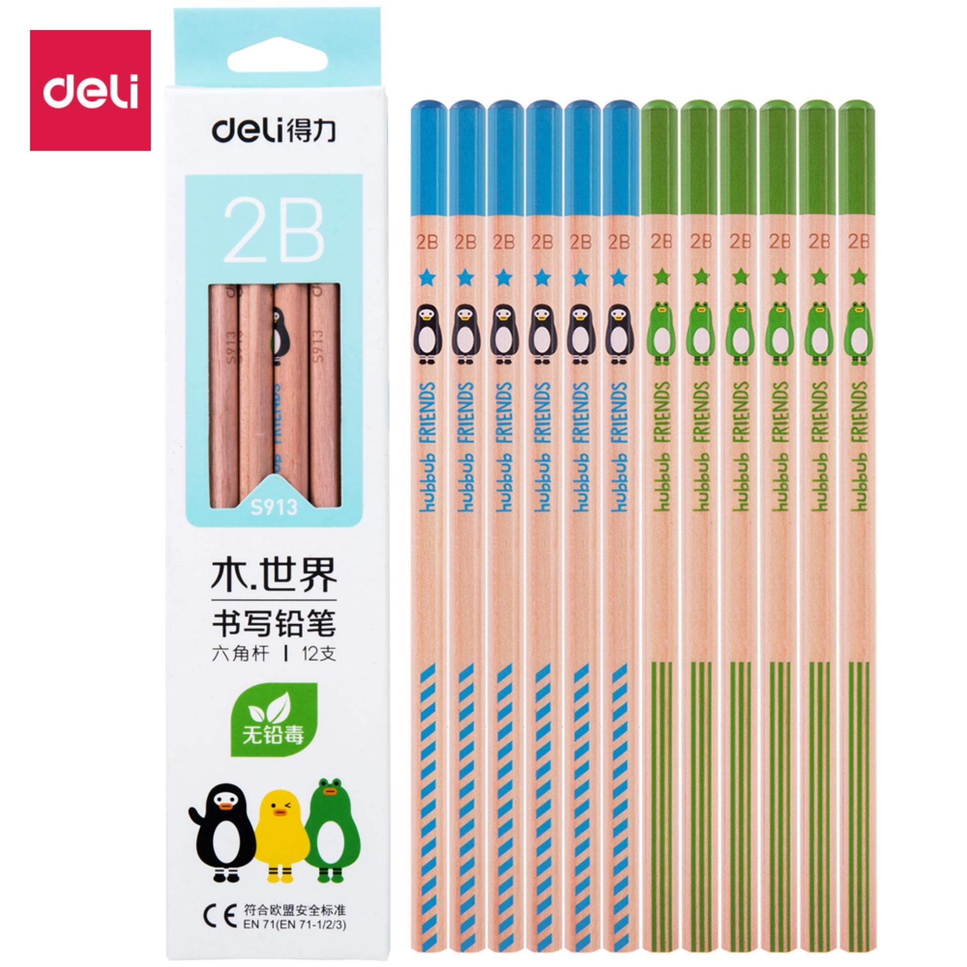 Mua DELI S913 Bút chì viết 2B Nhiều màu-12 cái/hộp