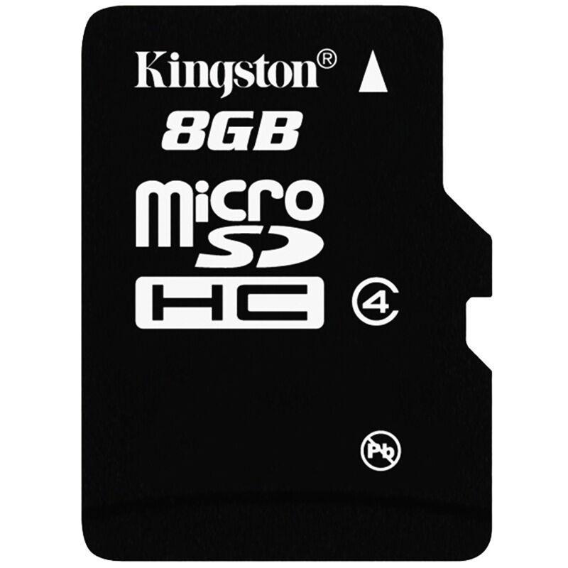 Bộ 5 Thẻ nhớ Kingston Micro SDHC Class4 8GB (Đen) Hàng tray + Hộp nhựa Tặng 1 đầu đọc thẻ nhớ Mẫu ngẫu nhiên)