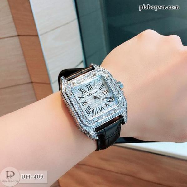 Đồng hồ nam HLO đính full đá cực đẹp Bảo hành 12 tháng DH403 shopquanaonam bán chạy