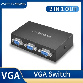 ACASIS 2 Port VGA Switch 2 IN 1 OUT SWITCH FOR PC MONITOR SWITCHER SUPPORT LAPTOP DESKTOP SHARING thumbnail