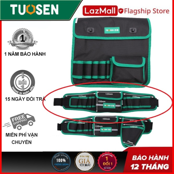 Túi đựng dựng cụ đeo vai, túi đựng đồ nghề đeo hông, túi thợ điện - Chính hãng TUOSEN