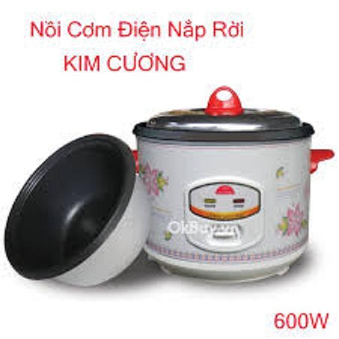 Nồi cơm điện Kim Cương nắp rời 1.8LR 1.8L (Trắng)
