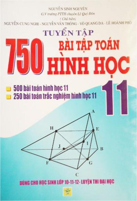 Mua Tuyển tập 750 bài tập toán hình học lớp 11