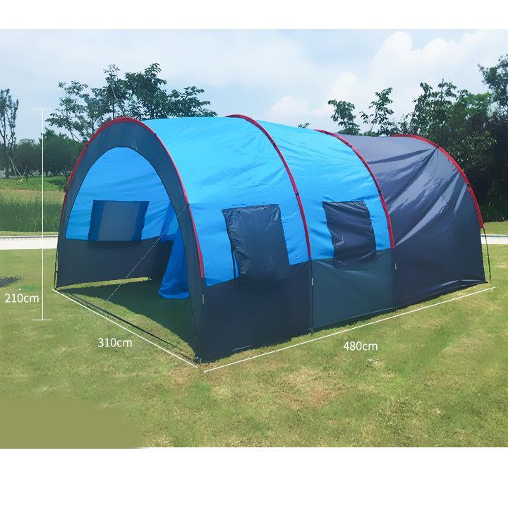 Lều Cắm Trại Cỡ Lớn 3 Phòng - Dành Cho 12 Người - 1