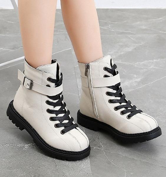 Giá bán Giày Boot Da  cho bé  gái size 27 - 37  gái phong cách cá tính  - B90