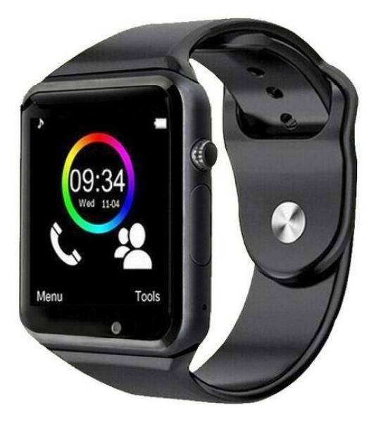 Đồng hồ thông minh  A1 Plus  màn hình cảm ứng lắp sim nghe gọi nhắn tin màu đen bán chạy