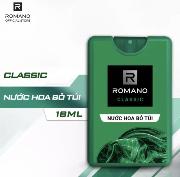 Nước hoa bỏ túi Romano Classic cổ điển lịch lãm 18ml nhập khẩu