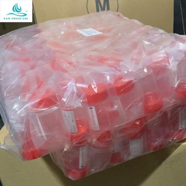 Lọ đựng mẫu có nắp đỏ có nhãn tiệt trùng túi 10 cái TTC