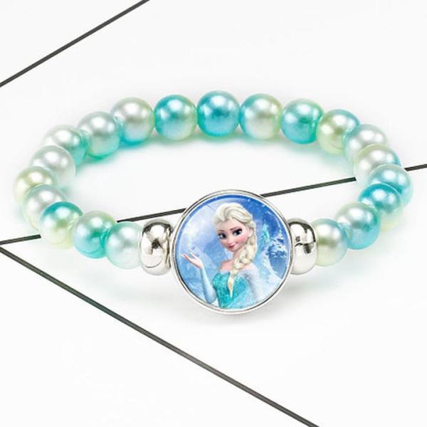 Giá bán Vòng tay Elsa hottrend cho bé gái bằng chuỗi hạt nhựa phối mặt kính hình hoạt hình Frozen 2 BBShine – J052