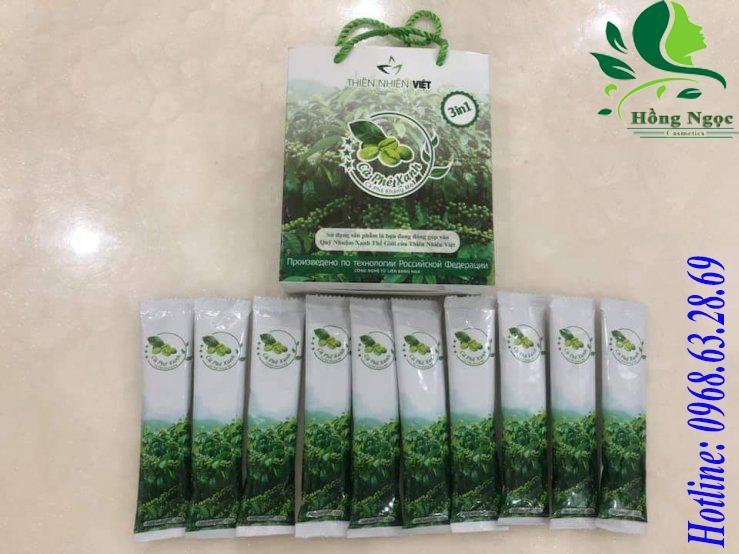 Cà phê xanh hỗ trợ giảm cân - kháng mỡ - thanh lọc cơ thể Thiên Nhiên Việt (hộp 10 gói) nhập khẩu
