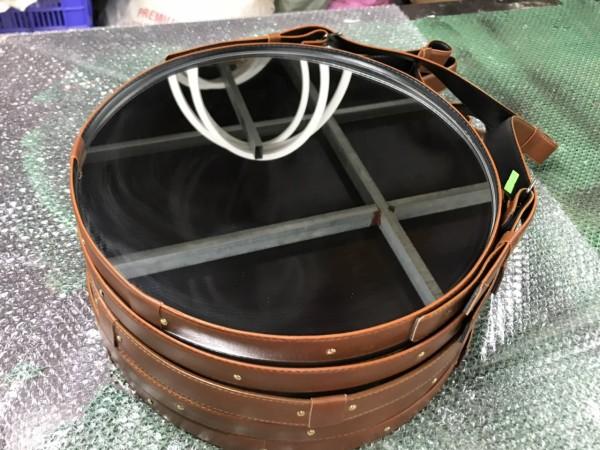 [D60 - Giá siêu tốt]Gương tròn D60 -  Gương Tròn Dây Da Simili Cao Cấp Treo Tường D60cm - Đầy đủ phụ kiện