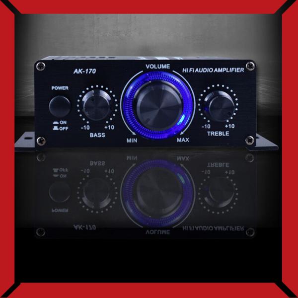 Bộ Khuếch Đại Công Suất Âm Thanh Mini AK170 12V Bộ Thu Âm Thanh Kỹ Thuật Số AMP Kênh Đôi 20W + 20W Bass Treble Điều Khiển Âm Lượng Cho Sử Dụng Trên Xe Hơi