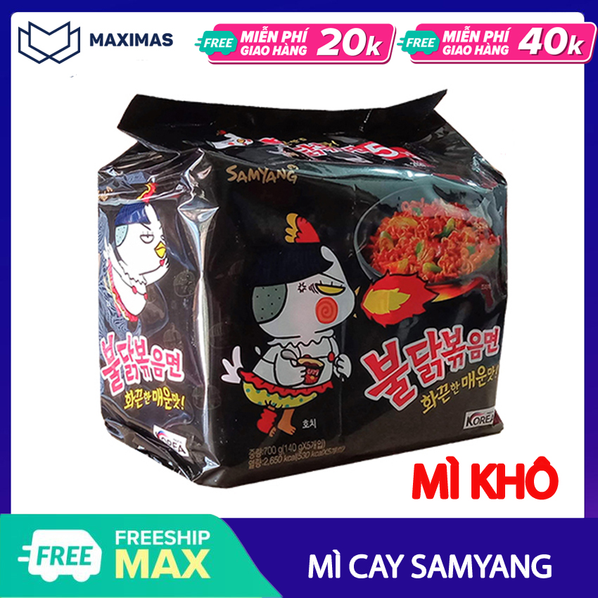 [HCM]Mì cay Samyang Hàn Quốc vị truyền thống (COMBO 3 5 GÓI) Mỳ Khô và Nước - Maximas - Ăn vặt Hàn Quốc M01