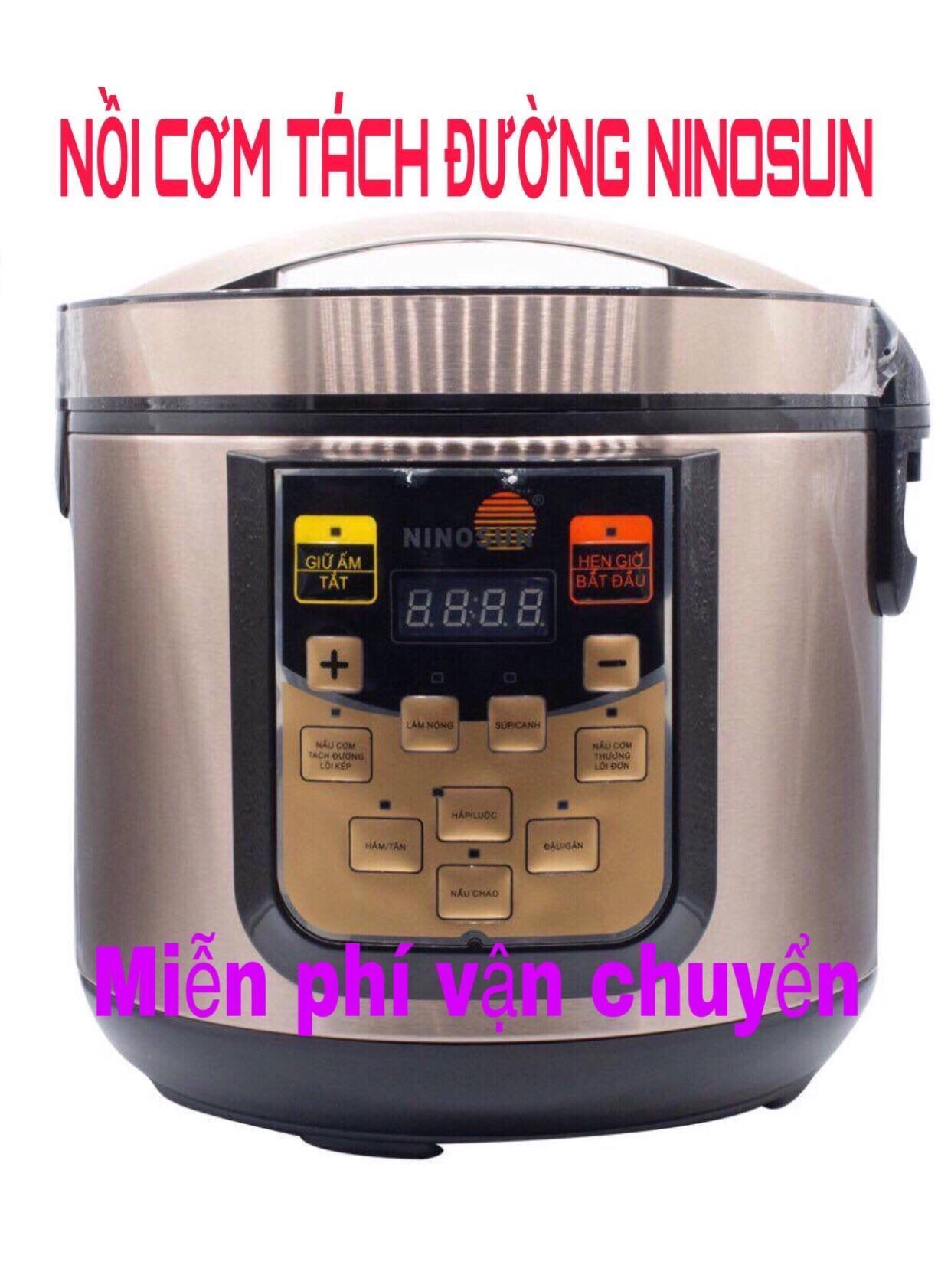 [KHUYẾN MÃI SỐC] Nồi Cơm Điện Tách Đường Ninosun, Nồi cơm tách đường + Bảo hành 12 tháng + Không lo tiểu đường