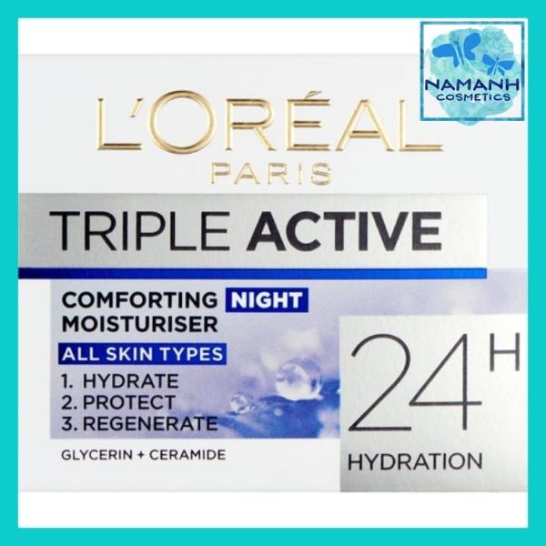 Kem dưỡng 3 tác động dưỡng ẩm, bảo vệ và phục hồi ban đêm LOreal Paris Triple Active Night Cream 50ml