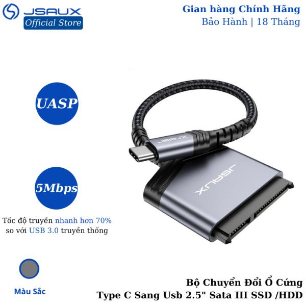 Bảng giá Bộ Chuyển Đổi Ổ Cứng Type C Sang Usb 2.5 Sata III JSAUX Cho Ssd / Hdd – Cho Macbook, Laptop, Điện thoại Samsung, Oppo, Huewei... Phong Vũ