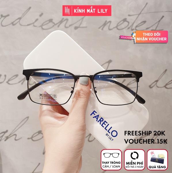 Mua Gọng kính cận nam nữ LILYEYEWEAR kính mắt vuông gọng kính kim loại màu sắc thời trang 770 [ TẶNG KÈM QUÀ HẤP DẪN]