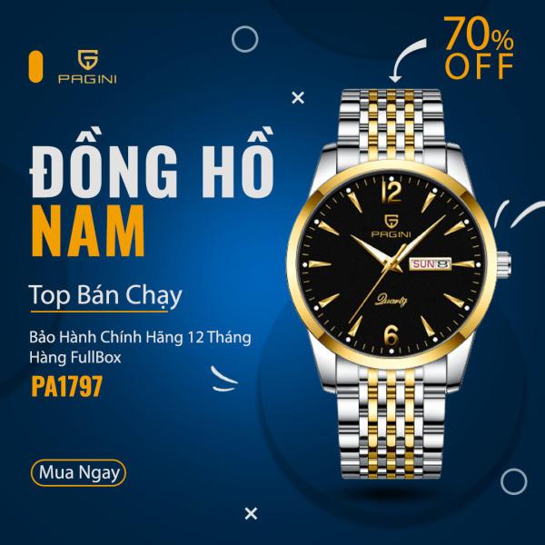 Nơi bán Đồng Hồ Nam Thương Hiệu PAGINI - Chống Nước 3ATM - Hàng FullBox - PA5566B