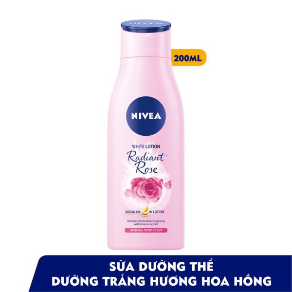 Sữa Dưỡng Thể Trắng Da Nivea Hương Hoa Hồng 200ml
