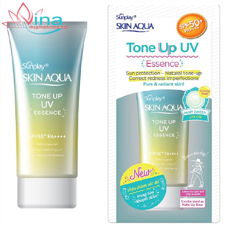 Tinh chất chống nắng hiệu chỉnh sắc da Mint Green Sunplay Skin Aqua Tone Up UV Essence 50ml nhập khẩu