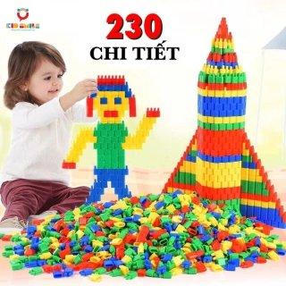 Đồ chơi trẻ em túi 230 hạt xếp hình nhựa nguyên sinh an toàn nhiều màu sắc giúp trẻ từ 3 tuổi trở lên phát triển trí tưởng tượng và tư duy sáng tạo thumbnail