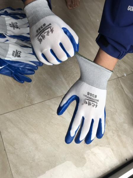 (Free ship+ ảnh thật) 3 bịch găng tay 388 phủ cao su xịn siêu bền găng tay bảo vệ 3 lớp chống tĩnh điện  loại dày