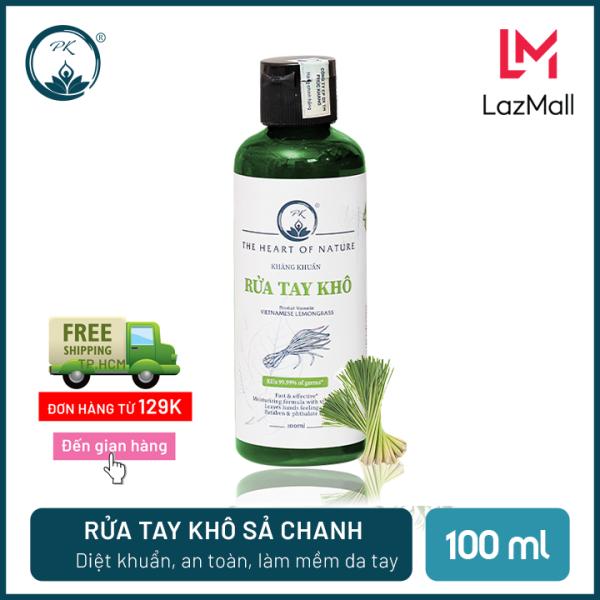 [SÁT KHUẨN] Nước rửa tay khô tinh dầu Sả Chanh PK 100ML – có kiểm định diệt khuẩn 99,9% nhập khẩu