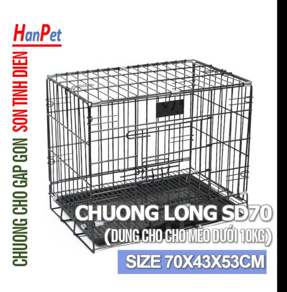 Chuồng Lồng cũi chó mèo dưới 22kg (SD75  SD70  SD90) chuồng sơn tĩnh điện có thể gấp gọn