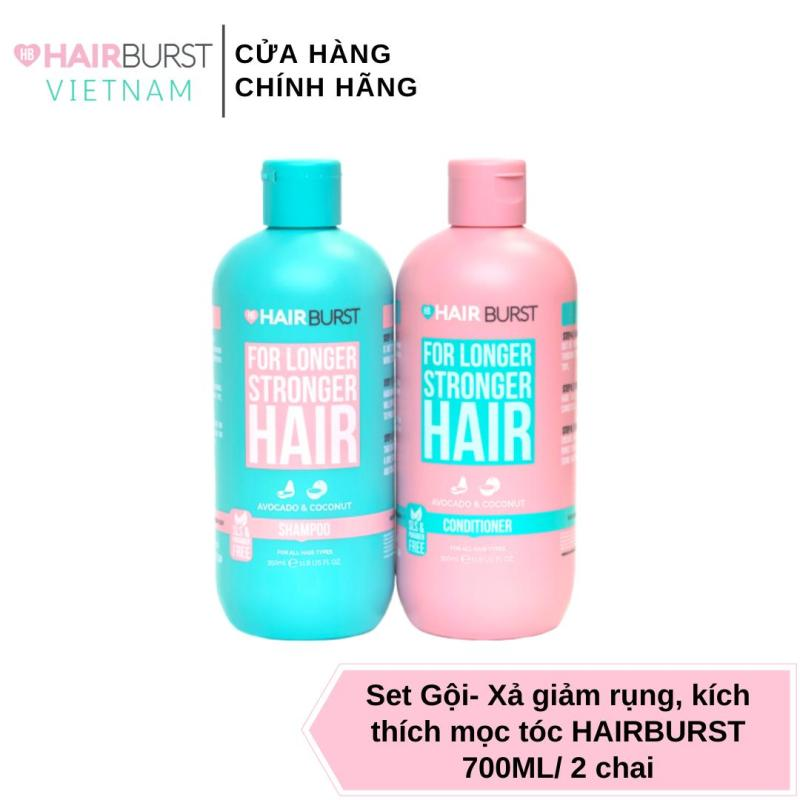 Set gội xả HAIRBURST kích thích tóc mọc dài hơn chắc khỏe hơn 350ml/chai cao cấp