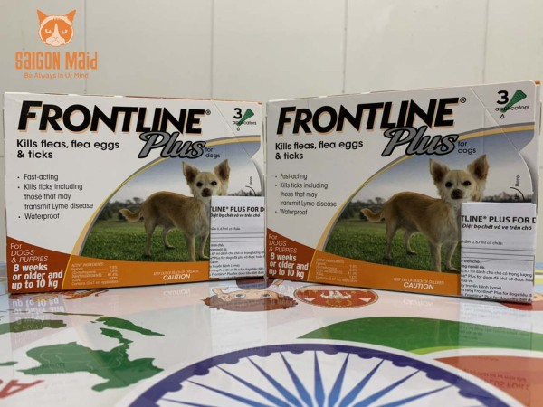 Sản phẩm nhỏ gáy Frontline Plus dành cho chó ( 10kg)