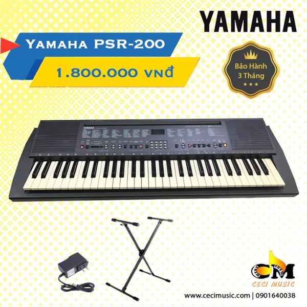 Đàn Organ Yamaha PSR200 Like new 90%. Bảo hành 3 tháng. Tặng kèm chân đàn trị giá 150.000