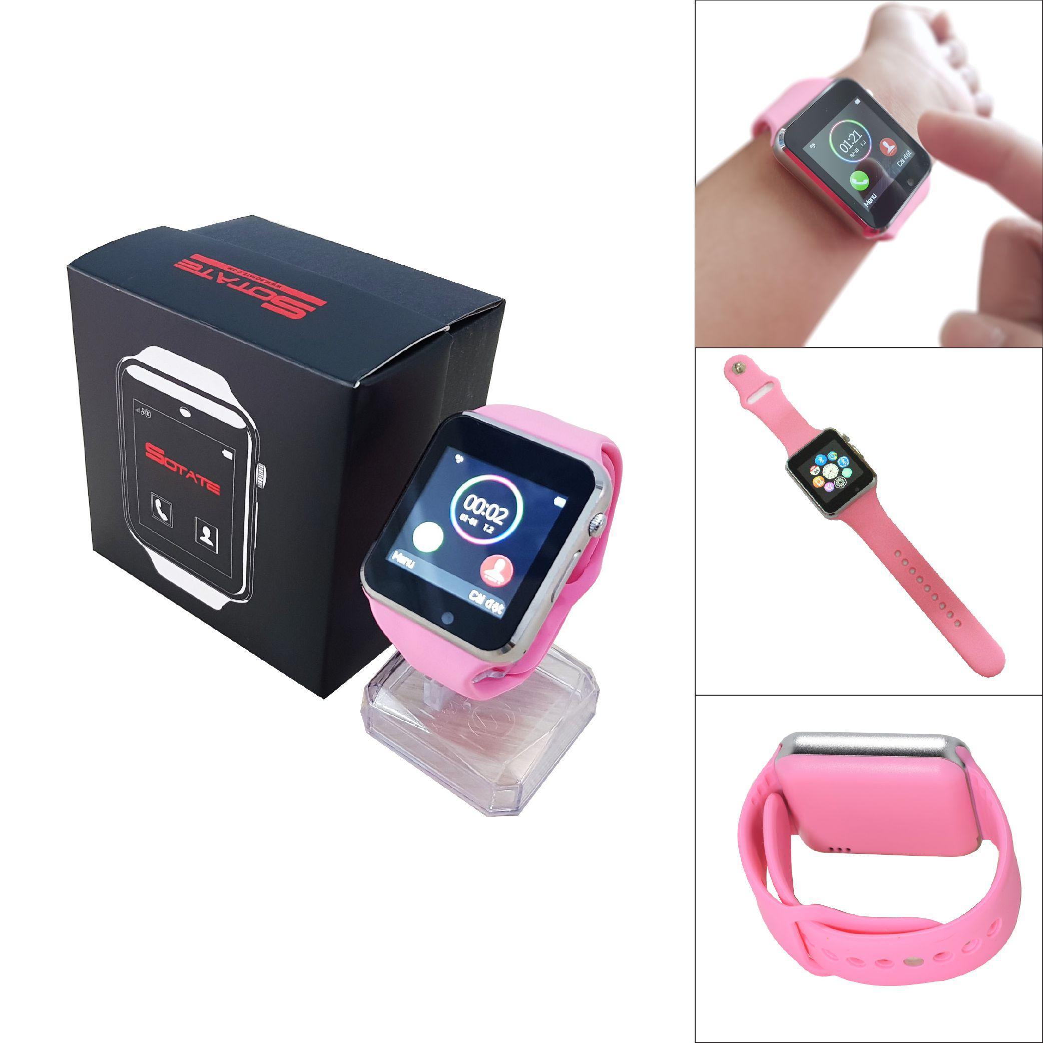 Đồng hồ thông minh điện thoại 2017 (Hồng) + Tặng kèm bút cảm ứng